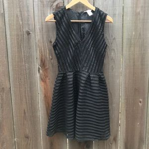 Black H&M Satiny Eyelet Dress